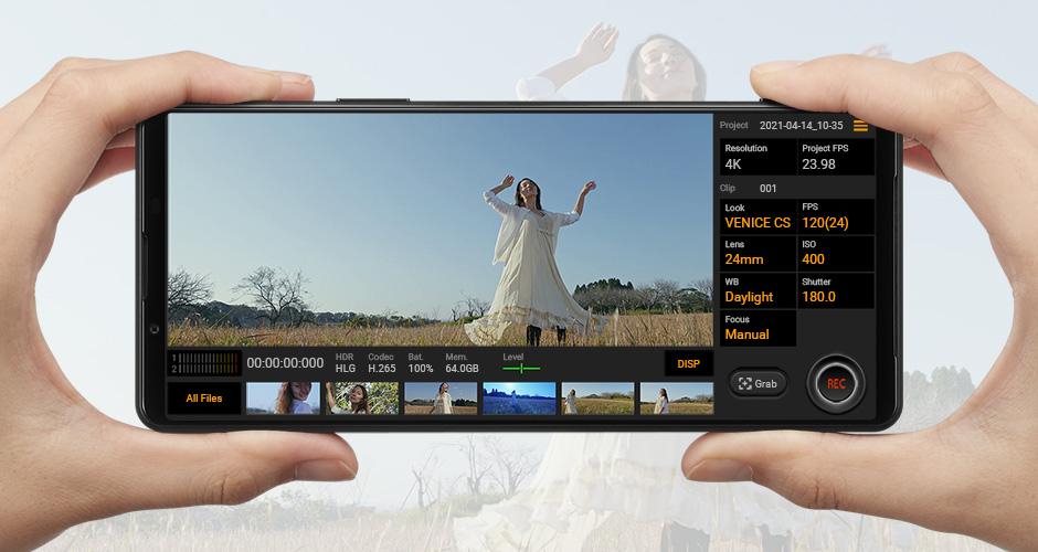 シネマカメラの操作感を再現するインターフェース