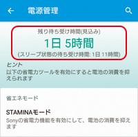 STAMINAモードのイメージ