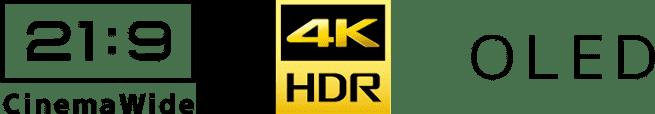 21:9CinemaWide 4K HDR OLED ロゴ